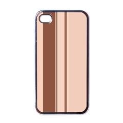 Elegant brown lines Apple iPhone 4 Case (Black)