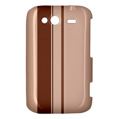 Elegant brown lines HTC Wildfire S A510e Hardshell Case