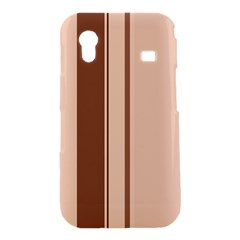 Elegant brown lines Samsung Galaxy Ace S5830 Hardshell Case