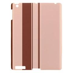 Elegant brown lines Apple iPad 3/4 Hardshell Case
