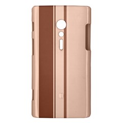 Elegant brown lines Sony Xperia ion