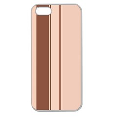 Elegant brown lines Apple Seamless iPhone 5 Case (Clear)