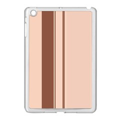 Elegant brown lines Apple iPad Mini Case (White)
