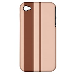 Elegant brown lines Apple iPhone 4/4S Hardshell Case (PC+Silicone)