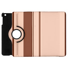 Elegant brown lines Apple iPad Mini Flip 360 Case