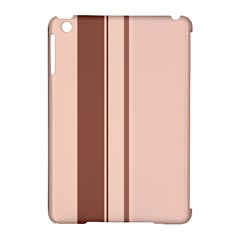 Elegant brown lines Apple iPad Mini Hardshell Case (Compatible with Smart Cover)