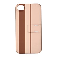 Elegant brown lines Apple iPhone 4/4S Hardshell Case with Stand