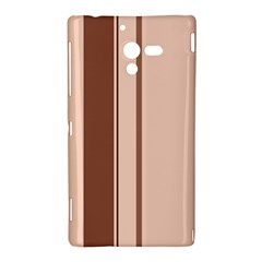 Elegant brown lines Sony Xperia ZL (L35H)