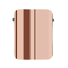 Elegant brown lines Apple iPad 2/3/4 Protective Soft Cases