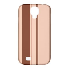 Elegant brown lines Samsung Galaxy S4 Classic Hardshell Case (PC+Silicone)