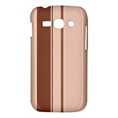 Elegant brown lines Samsung Galaxy Ace 3 S7272 Hardshell Case