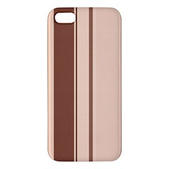 Elegant brown lines iPhone 5S/ SE Premium Hardshell Case