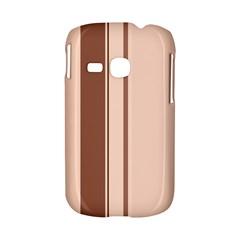 Elegant brown lines Samsung Galaxy S6310 Hardshell Case