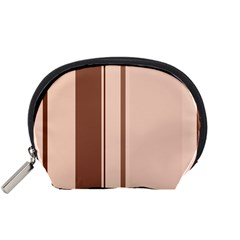 Elegant brown lines Accessory Pouches (Small)