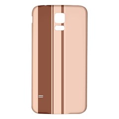 Elegant brown lines Samsung Galaxy S5 Back Case (White)