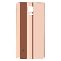 Elegant brown lines Galaxy Note 4 Back Case