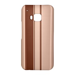Elegant brown lines HTC One M9 Hardshell Case