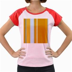 Yellow elegant lines Women s Cap Sleeve T-Shirt