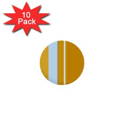 Yellow elegant lines 1  Mini Buttons (10 pack)