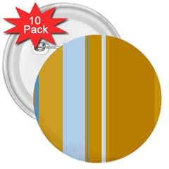 Yellow elegant lines 3  Buttons (10 pack)