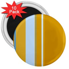 Yellow elegant lines 3  Magnets (10 pack)