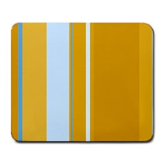 Yellow elegant lines Large Mousepads