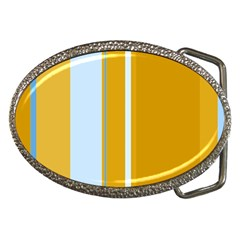 Yellow elegant lines Belt Buckles
