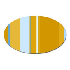 Yellow elegant lines Oval Magnet