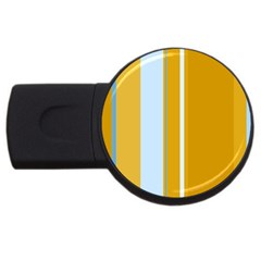 Yellow elegant lines USB Flash Drive Round (2 GB)