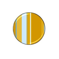 Yellow elegant lines Hat Clip Ball Marker (4 pack)