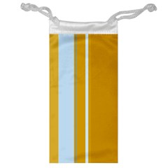 Yellow elegant lines Jewelry Bags