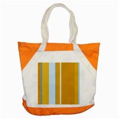 Yellow elegant lines Accent Tote Bag