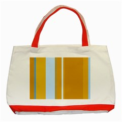 Yellow elegant lines Classic Tote Bag (Red)