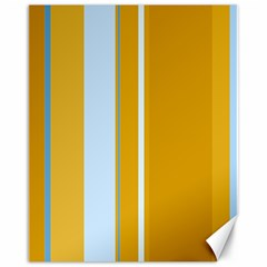 Yellow elegant lines Canvas 16  x 20