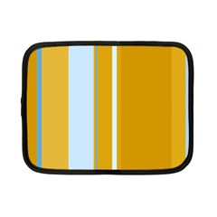 Yellow elegant lines Netbook Case (Small)