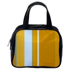 Yellow elegant lines Classic Handbags (One Side)