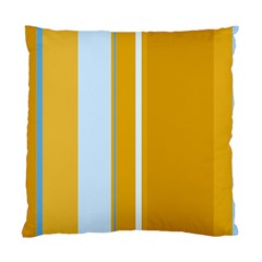 Yellow elegant lines Standard Cushion Case (Two Sides)