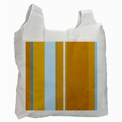 Yellow elegant lines Recycle Bag (One Side)