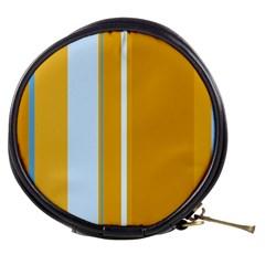 Yellow elegant lines Mini Makeup Bags