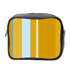 Yellow Elegant Lines Mini Toiletries Bag 2 Side