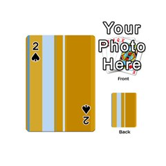Yellow elegant lines Playing Cards 54 (Mini)