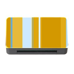 Yellow elegant lines Memory Card Reader with CF
