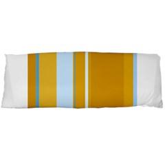 Yellow elegant lines Body Pillow Case (Dakimakura)