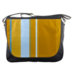Yellow elegant lines Messenger Bags