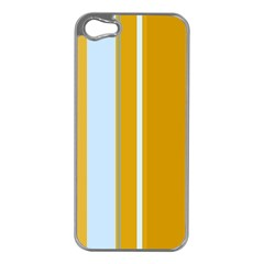 Yellow elegant lines Apple iPhone 5 Case (Silver)