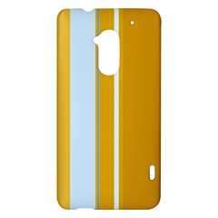 Yellow elegant lines HTC One Max (T6) Hardshell Case
