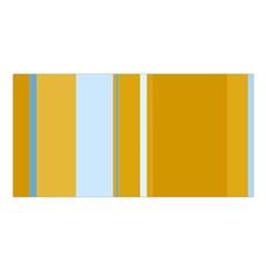 Yellow elegant lines Satin Shawl