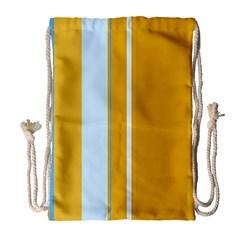 Yellow elegant lines Drawstring Bag (Large)