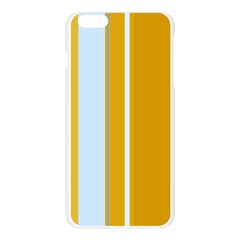 Yellow elegant lines Apple Seamless iPhone 6 Plus/6S Plus Case (Transparent)