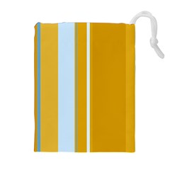 Yellow elegant lines Drawstring Pouches (Extra Large)